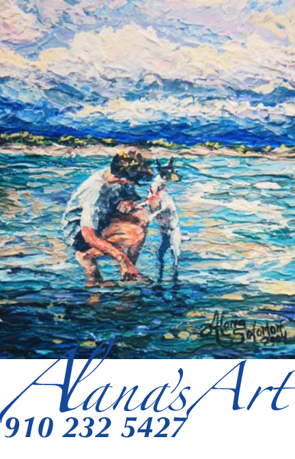 """""""Toby Waves"""" by Alana Solomon. Copyright 2012. All Rights Reserved. Call Alana for prints: USA 910 232 5427. Email: whatfaux@aol.com"""