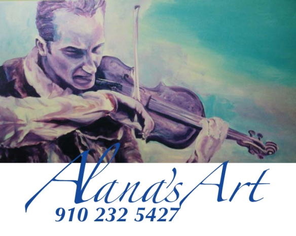 """""""Street Violinist"""" by Alana Solomon. Copyright 2012. All Rights Reserved. Call Alana for Original & Prints: USA 910 232 5427. Email: whatfaux@aol.com"""